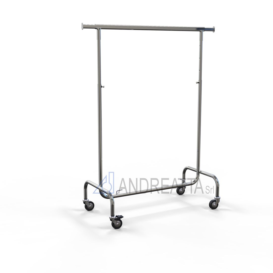 Garment rail Adjustable in height