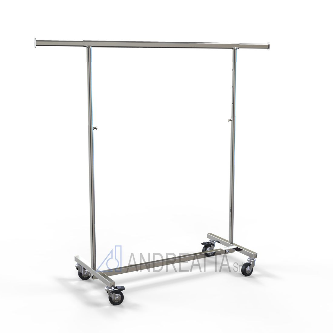 Folding garment rail Adjustable in height